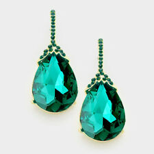 Gold and Green Evening Wear FASHION Earrings