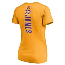 Los Angeles Lakers Team #23 Lebron James Tee Size Womens XL NEW