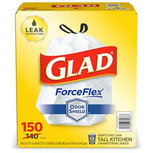 Glad® ForceFlex Tall Kitchen 13 Gallon Drawstring Trash Bags with OdorShield®