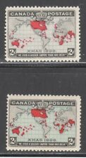 CANADA STAMPS #85-86  -- BOTH COLORS - EMPIRE MAP - 1898 - MINT