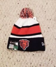 Chicago Bears New Era knit pom hat beanie NEW w/tags RARE NFL OnField Authentic