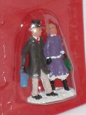 "NEW St. Nicholas Square ""A Couple Christmas Shopping"" Village Collection Figures"