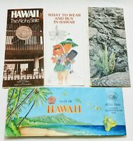 Vintage 1978-1980 Hawaii Map, Guides, and Volcanoes Guide LOT OF 4