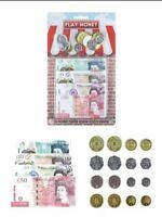 Kids Children's Play Money Fake Pretend Role Shops Cash £ Pound Notes Coins Toy