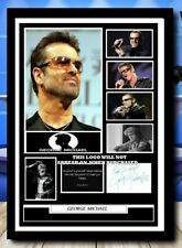 More details for 558)  george michael pop legend signed unframed/framed photograph reprint @@@@@@