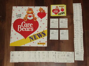 Care Bears NEWS Complete 1987 Panini Set, Empty Sticker Album,Loose stickers &..