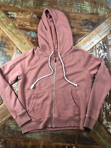 Womens Aerie Pink Full Sip Hopded Sweatshirt Size Small