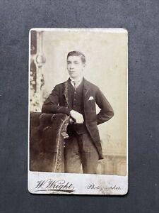 Victorian CDV: Dashing Young Gentleman: Wright London