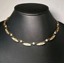 Retired Konplott Necklace Collection-City Amazon Runway, Brass, Rhinestones