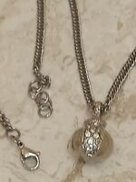 Pomegranate Necklace SWAROVSKI Crystal Jewelry .12ct SILVER Eternity Love HNMADE