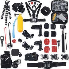 50 in 1 Kamera Zubehör Brustgurt Set Halterung Mount für Gopro Hero 1 2 3 4 5 6