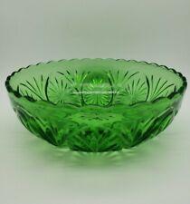 Vintage 6.5-inch Emerald Green Depression Serving Bowl