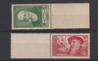 FRANCOBOLLI - 1937 FRANCIA INTELLETUALI 2 VALORI MNH E/1603