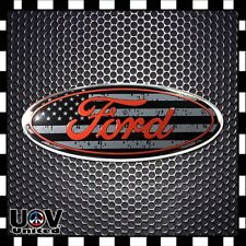 For 2004-2014 FORD F150 Front Grille Tailgate Oval Nameplate Emblem Badge Decal