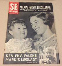 GREEK QUEEN ANNE-MARIE KING CONSTANTINE PRINCESS ALEXIA in Danish Magazine 1966.