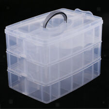 Stackable Clear Jewelry Earrings Beads Organizer Box Storage Container Case