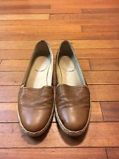 Stuart Weitzman Brown Leather Rope Espadrilles Flat Size 10 42