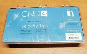 Open Box -- CND Velocity Tips WHITE 360 Ct Box - Resealed/Not Counted
