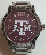 New Texas A&M Aggies Mens Watch, Bracelet, Metal, Gift for Him Anniversary