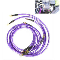 UNIVERSAL EARTH GROUND WIRE KITS FOR CAR SUV TUNING STYLING ENGINE CHIP PURPLE