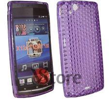Cover Custodia Per Sony Ericsson Xperia Arc S e X12 GEL TPU Viola