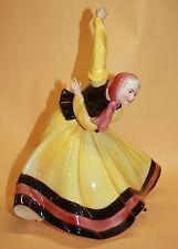 Hertwig Katzhütte Tänzerin Dame Figur Tanzen Porzellan  Porcelain Porzellanfigur
