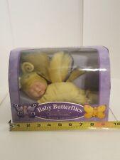 2001 Anne Geddes Baby Butterflies Bean Filled Yellow & Blue Wing Tips #527961