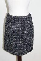 BNWT MONSOON Ladies Navy Blue Metallic A-line Style Boucle Skirt UK8 EU36