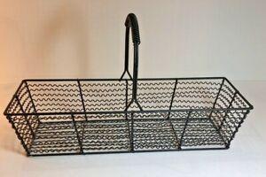 Rectangle Black Wire Basket