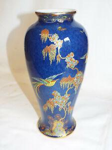"Stunning W&R Carlton Ware Paradise Bird & Tree pattern 10.5"" vase."