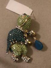 "Ahmed Akkad ""The Frog Prince� Swarowski Crystal Rhinestones Pin and/or Pendant."