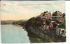 Early 1900's Bluff View from County Bridge in Chattanooga, TN Tennessee PC