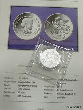 """Kanada, 20-Dollar 2013 Silber  Santa  """"Weihnachtsmann"""" Stgl."""