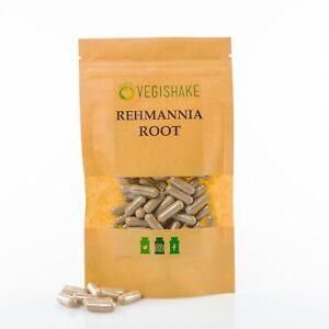 Organic Rehmannia Root Capsule HPMC Blood Flow Premature Grey Hair Vegan Halal