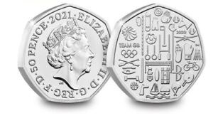 2021 Team GB Tokyo 50p Fifty Pence Coin Brilliant Uncirculated