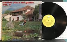 CANTOS PARA MI GENTE VOLUME 4~ORG 1981 ECUADOR LP on MICROFON~VARIOUS~ANDES FOLK