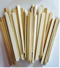 50 Ice Lolly Sticks Popsicle Lollipop Craft Wooden Model Lolli pop Lollies Kids