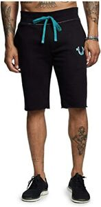 New Mens True Religion Sweat Casual Shorts Sale!! Available in black & white