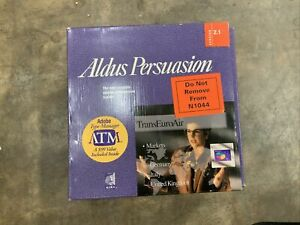 Aldus Persuasion 2.1 With Adobe Type Manager. Still Sealed.