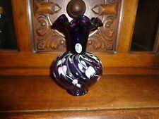 Fenton Purple Hand Painted Vase