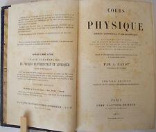 COURS DE PHYSIQUE / A. GANOT / RELIURE CUIR 1875