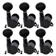 Guitar String Clavijas De Afinación Afinadores Con Bloqueo Llaves cabezas de la máquina piezas 6R Negro