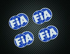 FIA STICKERS x4 F1 MOTORSPORT FERRARI McLAREN WILLIAMS LOTUS silver blue