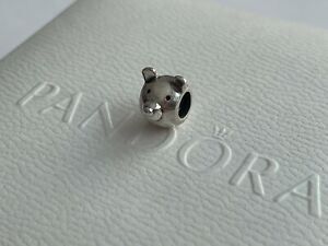 Authentic Pandora Retired Bear Head Charm Sterling Silver 790121