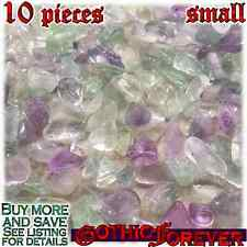 10 Small 10mm Combo Ship Tumbled Gem Stone Crystal Natural - Fluorite