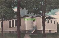 Postcard Public School Building Branchville NJ 1908