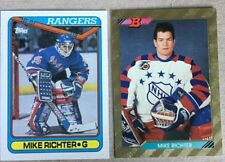 2 Mike Richter Cards 1990-91 Topps RC #330 & 1992-93 Bowman #238 - NY Rangers