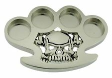 Men Women Skull Belt Buckle Brass Knuckle Skeleton Silver Metal Gothic Tattoo