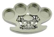 Men Women Skull Belt Buckle Brass Knuckle Skeleton Silver Metal Gothic Tattoo