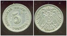 ALLEMAGNE 5  pfennig  1905 F